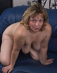 Big titted mama playing with herself