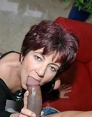 Mature women sucking cocks and getting facials